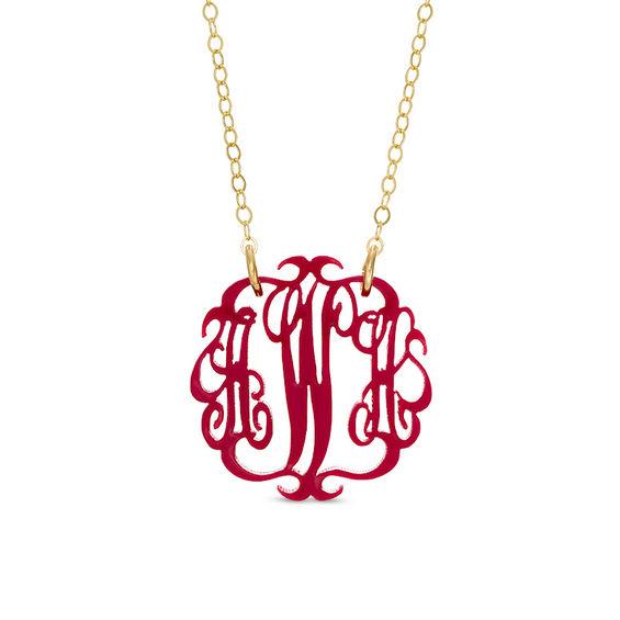 zales monogram necklace