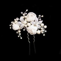 Flower Wedding Hair Pin Clarissa - Zaphira Bridal