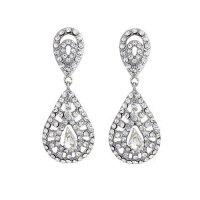 Clip On Vintage Bridal Earrings - Zaphira Bridal
