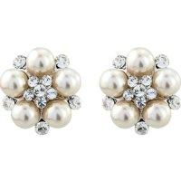 Clip On Pearl Wedding Earrings - Zaphira Bridal