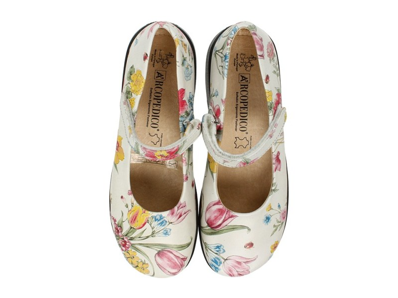 Arcopedico - Scala (Flowers White) Women's Maryjane Shoes