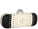 Alexander McQueen - Twin Skull Clutch Nappa Cachemire (Black/White) - Bags and Luggage