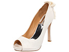 Badgley Mischka - Macee (White Satin) - Footwear