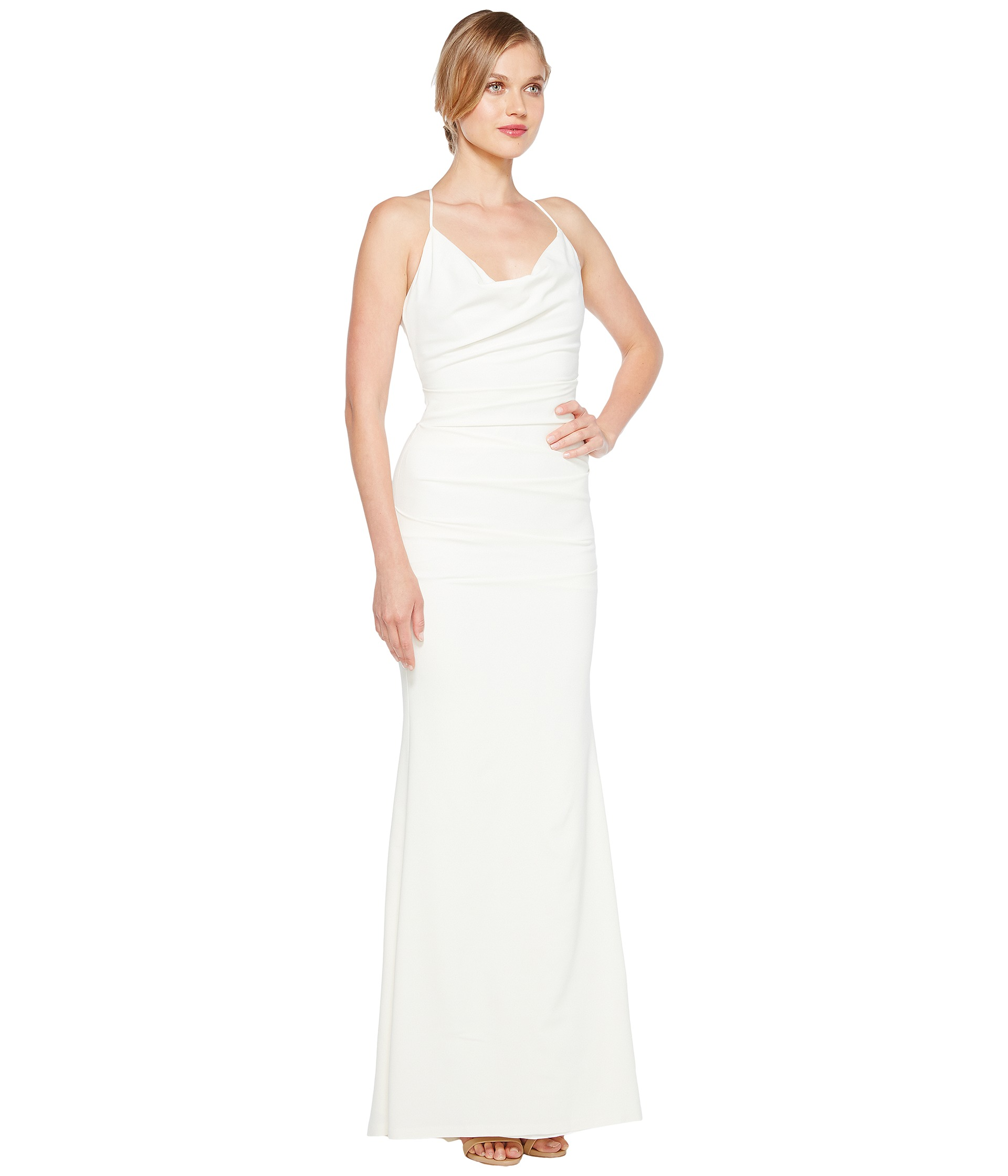 cowl neck wedding dress Sorry this video is unsupported on this browser