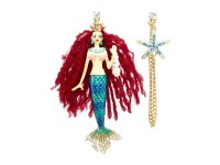 Betsey Johnson Shell Shocked Mermaid Non Matching Earrings