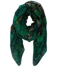 Marc By Marc Jacobs Heart Snake Print Scarf Green Multi ...