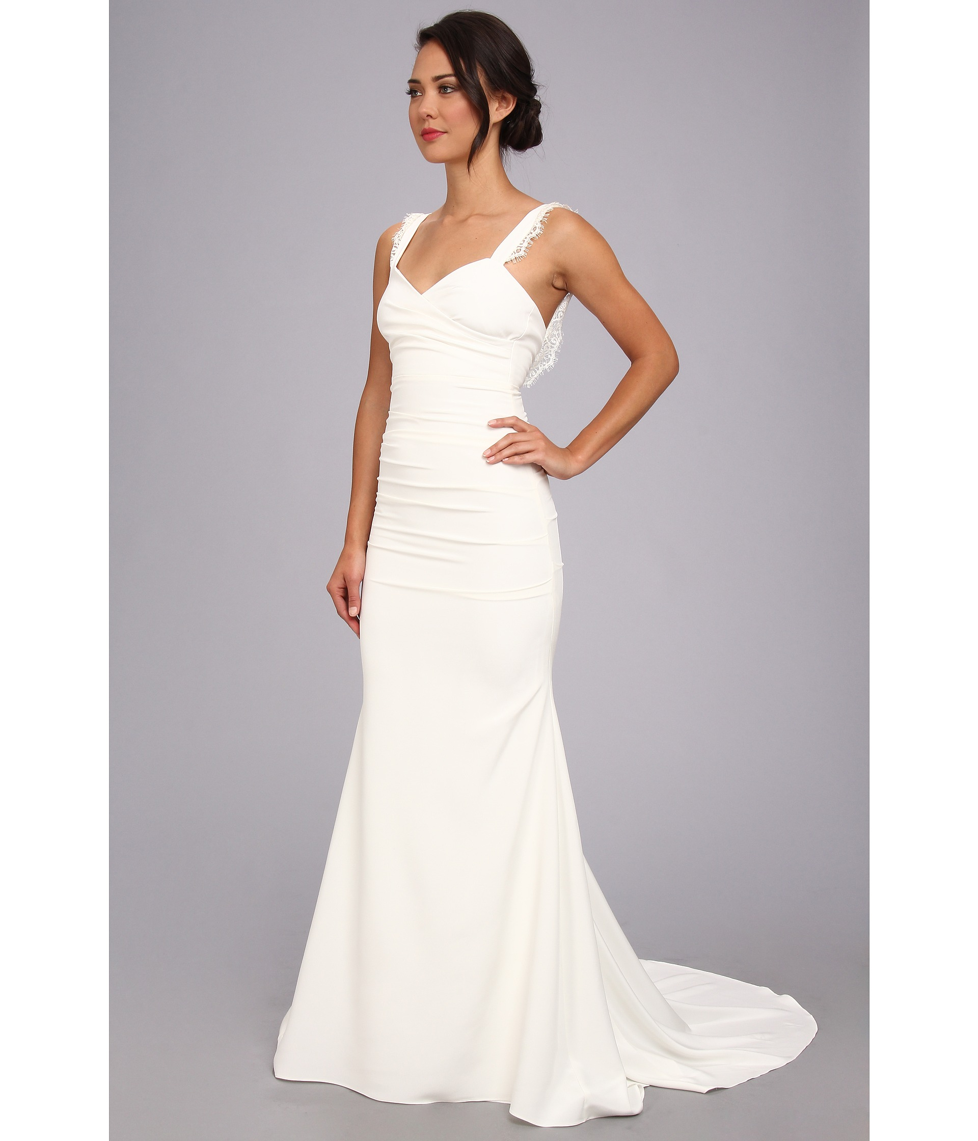 nicole miller wedding dresses Nicole Miller Alexis Low Back Bridal Gown