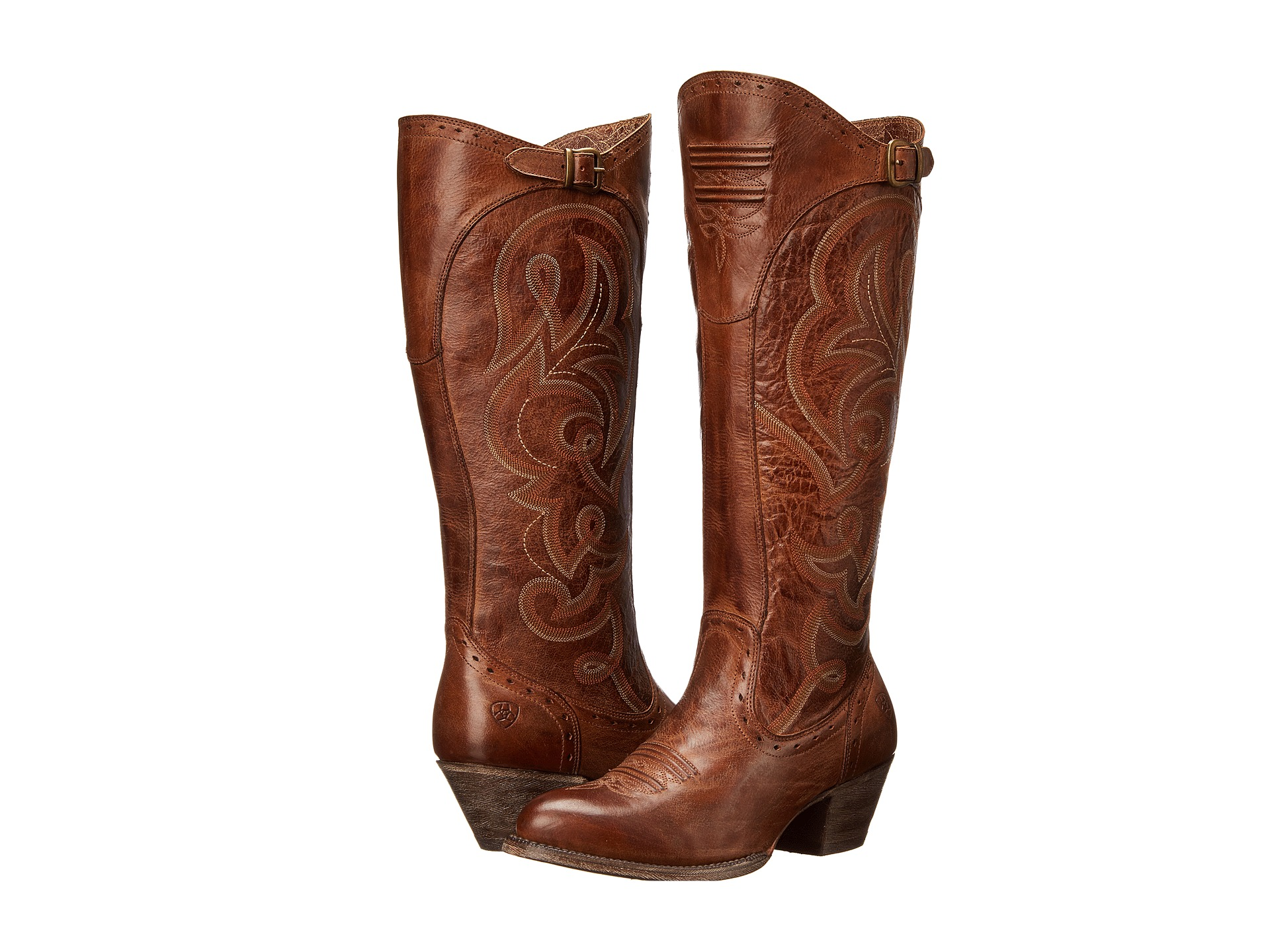 Womens Wide Calf Cowboy Boots With Model Styles In