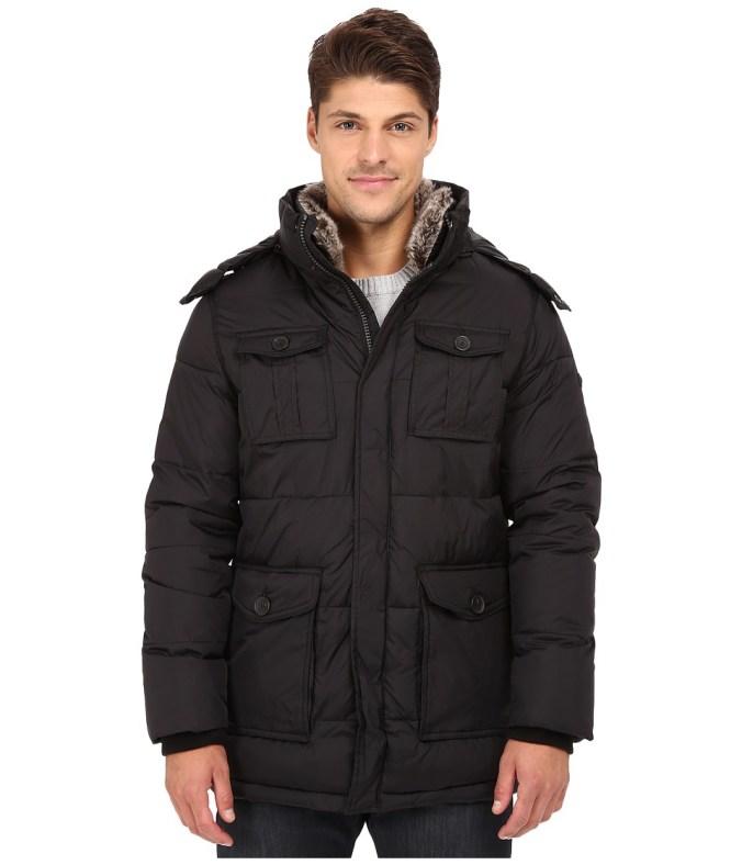 Calvin Klein - Puffer Coat (Black) Men's Coat