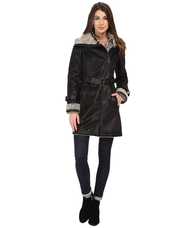 Marc New York by Andrew Marc - Braveheart 34 Faux Brisa (Black) Women's Coat