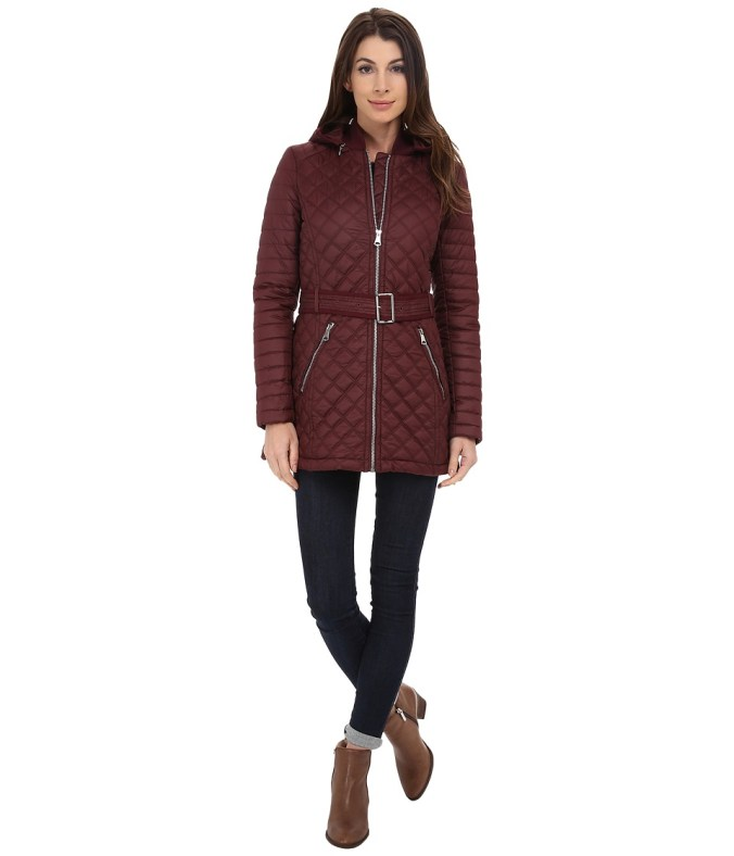Marc New York by Andrew Marc - Miley 30 Quilt with Hood (Merlot) Women's Coat