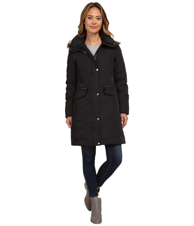 Marc New York by Andrew Marc - Warby 36 Utility Down w/ Faux Fur Hood (Black) Women's Coat