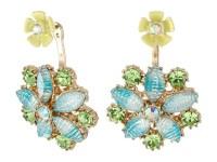 Betsey Johnson Spring Ahead Flower Front/Back Earrings ...