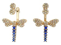 Betsey Johnson Spring Ahead Dragonfly Front/Back Earrings ...