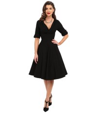 Unique Vintage 3/4 Sleeve Delores Swing Dress at Zappos.com