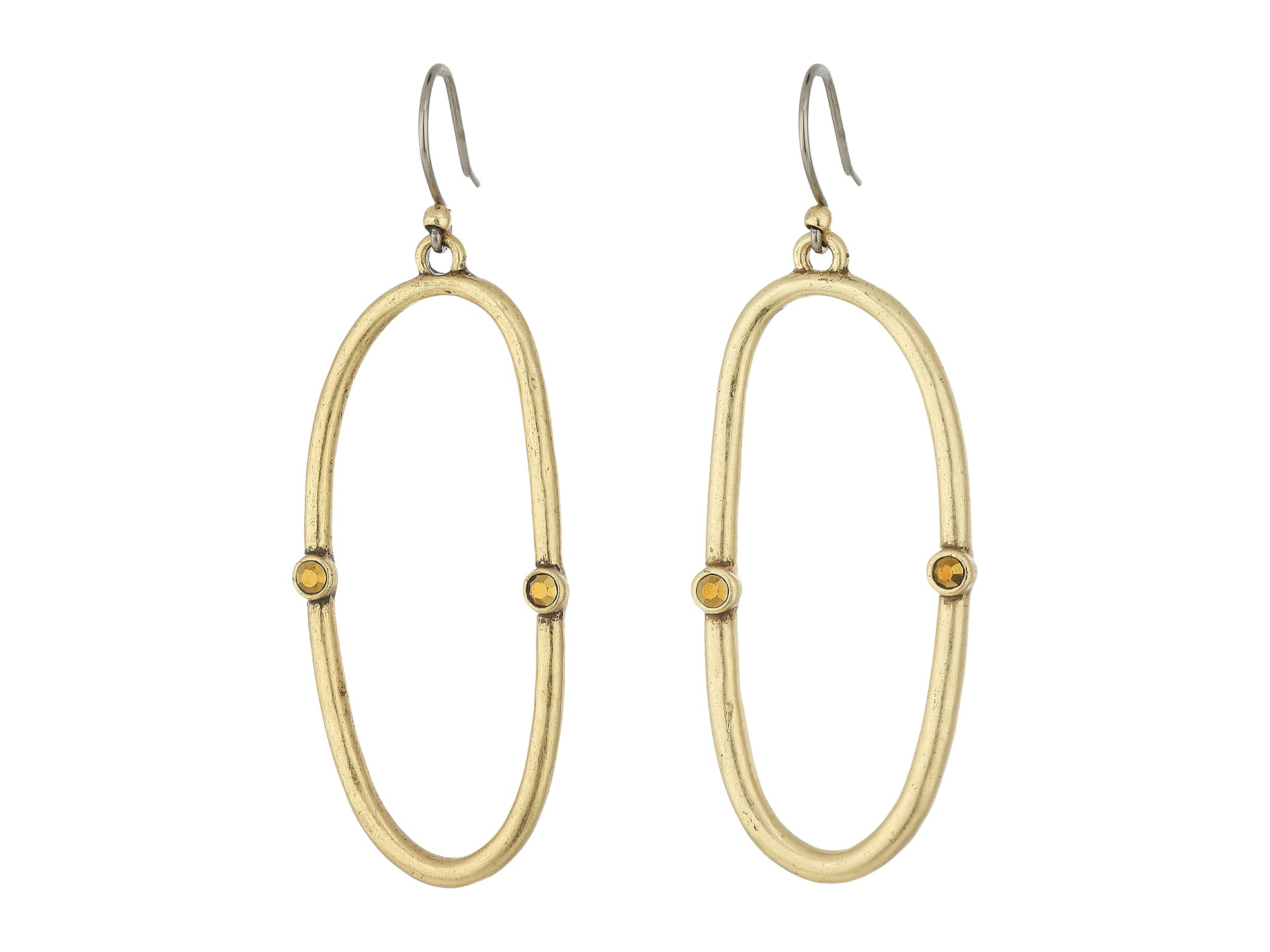 Lucky Brand Open Hoop Earrings Gold