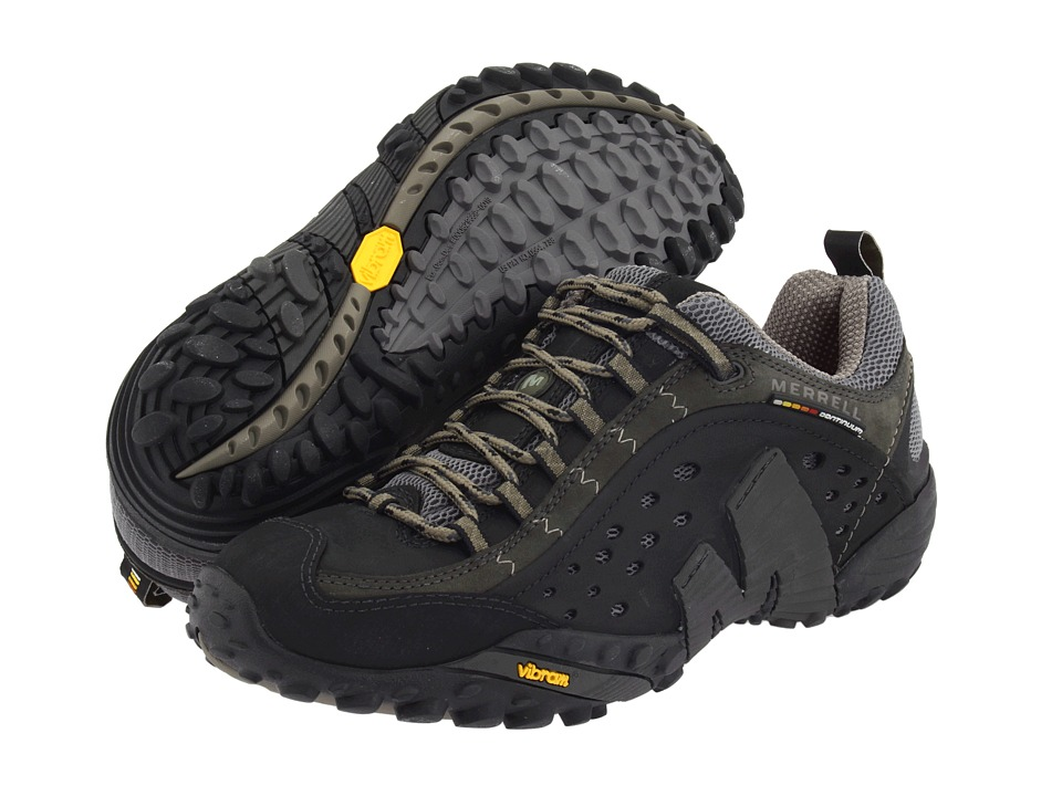 Merrell Intercept Smooth Black Leather Men39s Lace Up