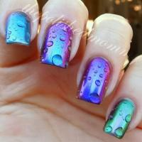 Latest fashion trend of 3D Water Droplet nail polish ...