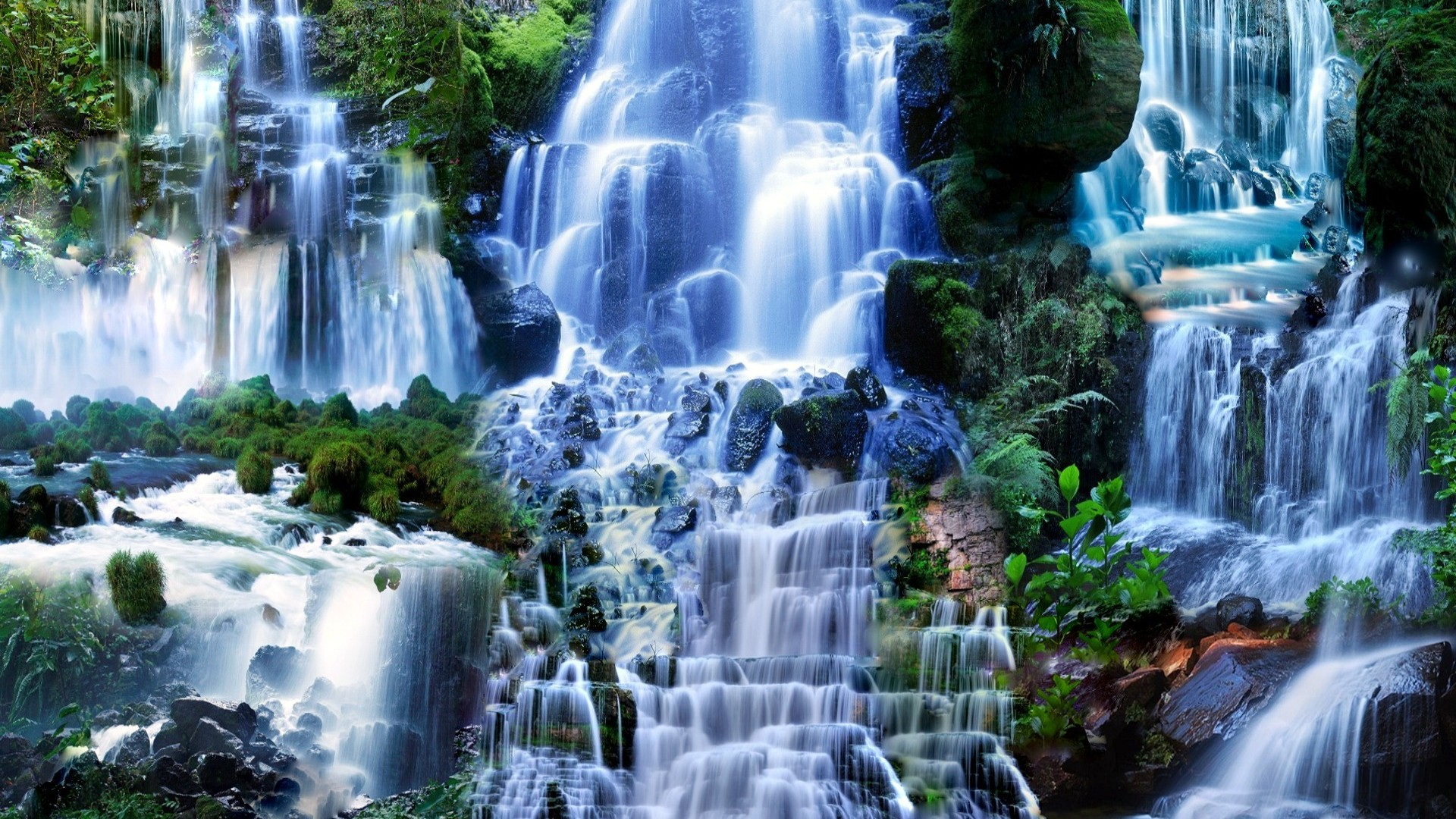 Rainbow Falls Hawaii Wallpaper Waterfall In The Forest Wallpapers And Images Wallpapers