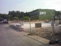 Baustelle Bergisch Gladbach  Gro Garagen  Bauzaun