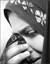 Crying Muslim Woman