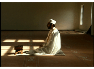 Man in prayer, man in salat, praying