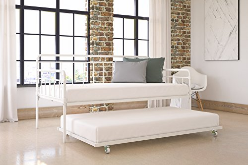Modern Wallace Daybed With Trundle Combo Twin Metal Bed