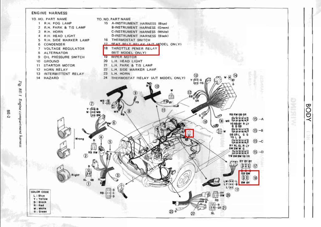 240z Horn Diagram - Wiring Diagram Progresif