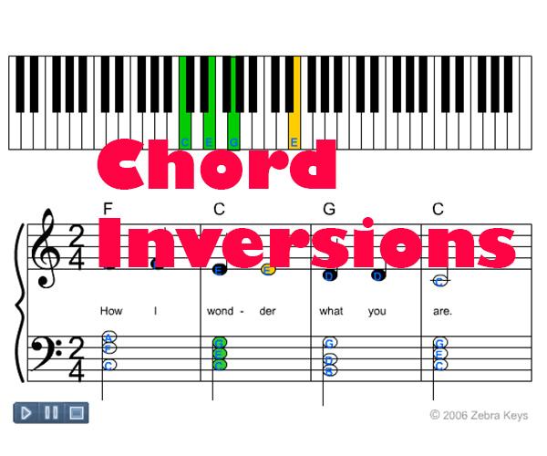 Chord Inversions \u2013 1st and 2nd Chord Inversions Zebra Keys Blog