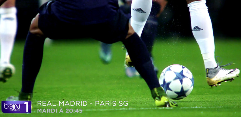 Streaming TV Bein Sport 1Real Madrid-PSG en live vidéo-