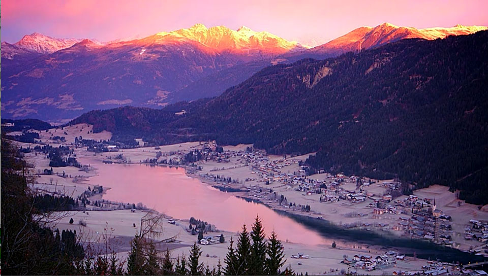 China Wallpaper Full Hd Weissensee Morgenrot Berge Aufgl 252 Hen 171 Professionelle