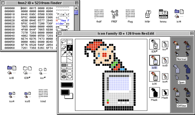 Editing icons 1990s style in ResEdit