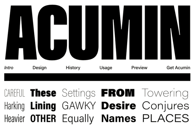 A Helvetica for readers–introducing Acumin.