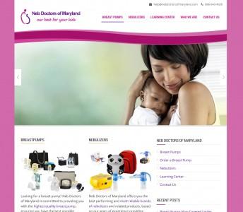 Responsive Website Design for Neb Doctors of Maryland
