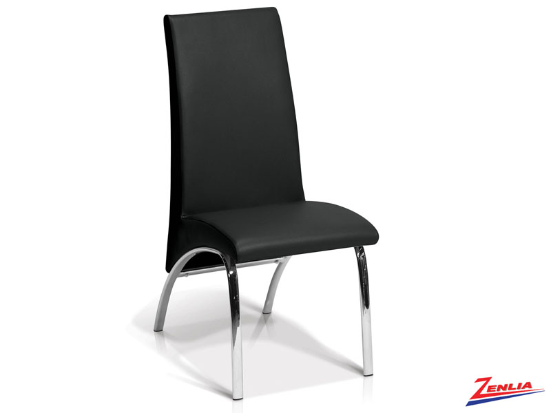 Monac Side Chair Black Chrome And Metal Chairs
