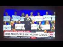 Ted Cruz Has No Blacks Minorities On Stage With Him – Video
