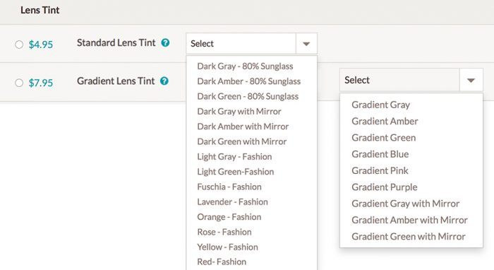 How To Order Tinted Glasses Zenni Optical