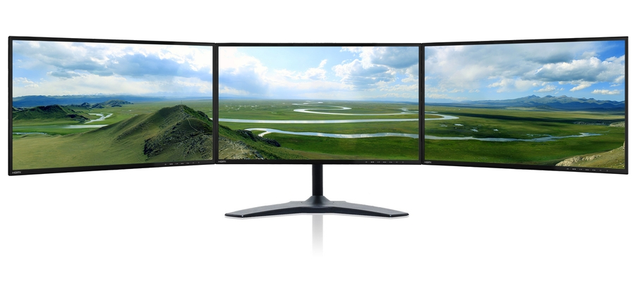 Zenview Trio 24 IPS Thin Triple-Screen Professional Monitor with - multi screen display