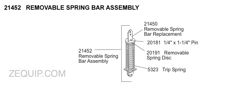 21452 REMOVABLE SPRING ASSEMBLY