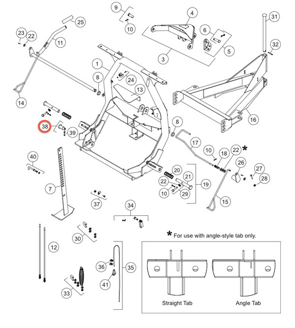 27177K FISHER SNOW PLOW STEP PIN KIT