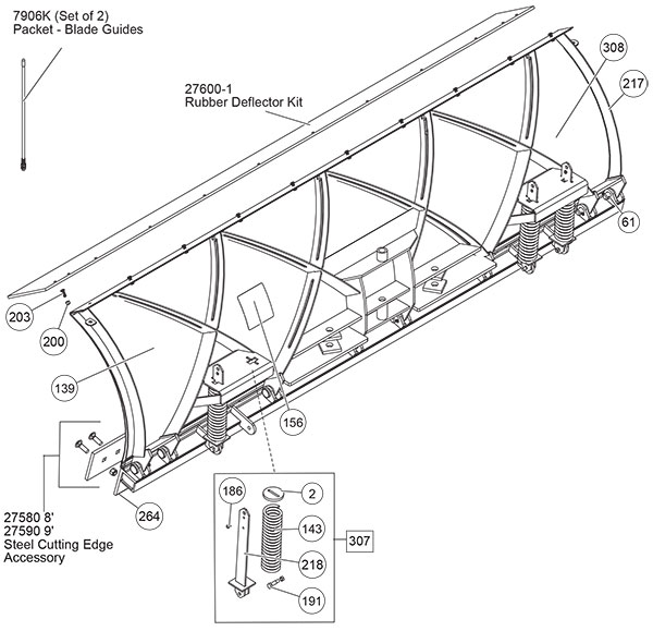 Fisher Snow Plow XBLADE Parts