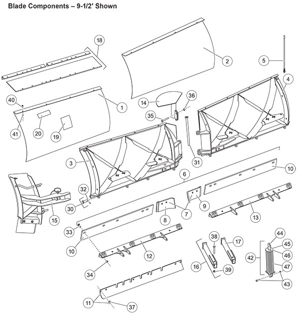 snow way plow parts diagram