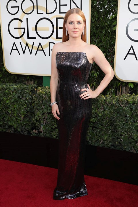 BEVERLY HILLS, CA - JANUARY 08:  74th ANNUAL GOLDEN GLOBE AWARDS -- Pictured: Actress Amy Adams arrives to the 74th Annual Golden Globe Awards held at the Beverly Hilton Hotel on January 8, 2017.  (Photo by Neilson Barnard/NBCUniversal/NBCU Photo Bank via Getty Images)