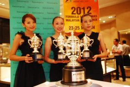 Tiffany & Co Trophies for 2012 Malaysian F1 - 25