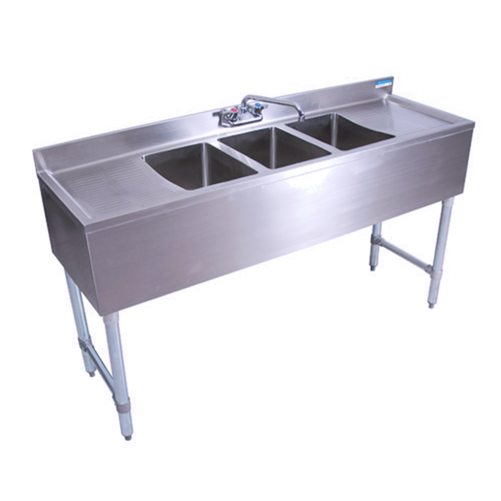 Bk Bkubw 360t Three Compartment Underbar Sink 60quot Long