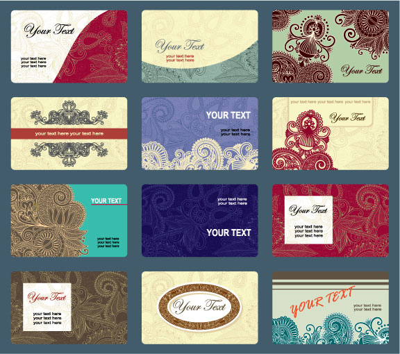 Vintage business cards template vector design Download Free