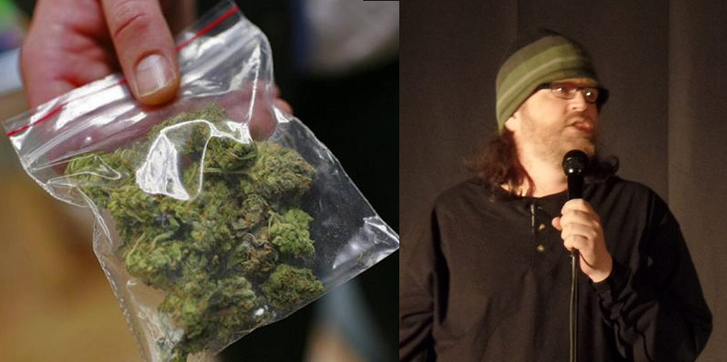 Comedian Daryl horner, stand up comedy failures, biggest source of income is selling weed to other comics, comedians dealing drugs, minneapolis minnesota,best funniest 2016 stand up comedy memes, humor, the onion, news satire, ziplock bag of weed stock photo, comedian wearing a hat and sweatshirt, microphone, hahaha, lol,