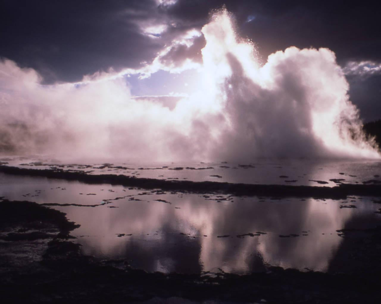 Animals And Birds Wallpaper Light Shining Through Fog On Lake Background Image