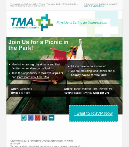 Tennessee Medical Association Email Marketing