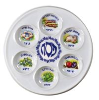 Disposable Plastic Seder Plates - 1 Dozen